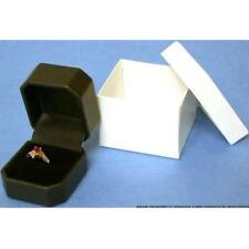 Black Faux Leather Jewelry Ring Box Showcase Display