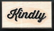 KINDLY SCRIPT WRITE FONT card word gift tag Stampin' Up! CRAFT wood RUBBER STAMP