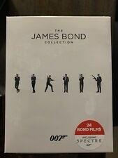 THE JAMES BOND COLLECTION 007 - 24 BOND FILMS BLU-RAY BOX SET FACTORY SEALED NEW