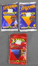 Toy Biz Marvel Comic Hero Pack Fat Slammer 6 Caps - 2x Spider-Man & 1x X-Men NIP