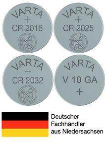 Varta Knopfzellen CR2016 CR2025 CR2032 V10GA Batterien neuester Produktion 2021