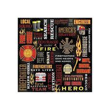 Scrapbooking Crafts 12X12 Paper Karen Foster Firefighter Collage Fireman Courage