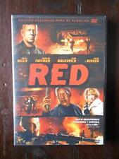 DVD RED - EDICION DE ALQUILER - BRUCE WILLIS -MORGAN FREEMAN -JOHN MALKOVICH (4R