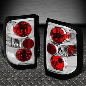 FOR 96-04 NISSAN PATHFINDER/INFINITI QX4 CHROME HOUSING TAIL BRAKE LIGHT LAMP