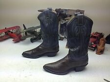 USA GRAY GREEN JUSTIN LIZARD LEATHER ROCKABILLY POINTY TOE DANCE BOOTS 6.5 B