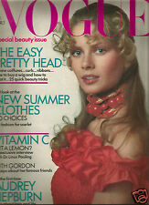 Vogue April 1971 Beauty Issue - Audrey Hepburn-Ruth Gordon-Picasso-Braque-Leger