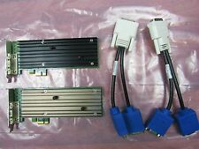 Lot of 2 HP Quadro NVS 290 Graphics Card 458707-002 460815-001 w/ Adapters