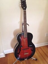 1972 Harmony Monterey Archtop Acoustic Guitar H6450 - Red Sunburst Nice !!