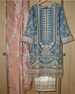 Indian Pakistani Asian Party Wedding Wear Dress Heavy Embroidery