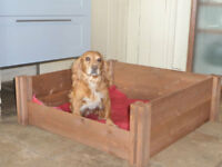 Wooden Dog Puppy Whelping Box Litter Timber Flat Pack Re-Usable Intl Shipping