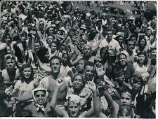 Francisco ASZMANN BRESIL c. 1945 - La Foule Carnaval Rio de Janeiro - P 1536