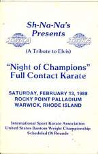 1988 Full Contact Karate Tournament Program Ed Parker Autograph and 8 others