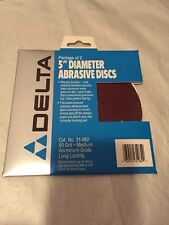 "5"" Diameter Abrasive Discs, Adhesive Backs 80 Grit Aluminium Oxide 5 packs Of 2"