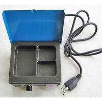 Dental Three/3 Well Analog Wax Melting Dipping Pot Heater Melter Lab Equipment