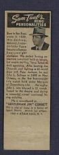 old boxing champion James Jim Corbett 1943 boxer matchbook cover matchcover