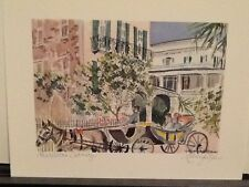 """""""Charleston Carriage"""" water color print by Marilyn Morris wedding/birthday gift"""