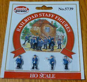 Model Power #5739 Railroad Personnel pkg(6) -- Railroad Staff