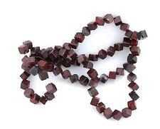 4mm Dice Square Natural Mahogany Obsidian Gemstone Gem Beads 15 Inch Strand
