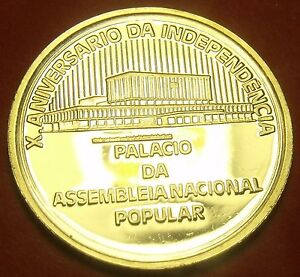 Cape Verde 1985 Escudo RARE Silver Proof~10th Anniversary Of Independence~Fr/Sh