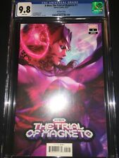 New listing X-Men The Trial of Magneto #1 Cgc 9.8 - Artgerm Variant Cover - 2021