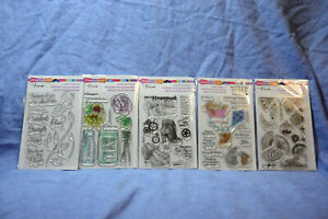 Stampendous Clear Stamp Sets: many choices-you pick-combined shipping. LOOK!!