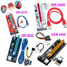 Pcie Express PCI-E 1x To 16x Extender Riser Card Adapter USB 3.0 BTC ETH Cable G