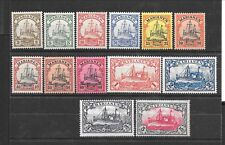 GERMAN COLONIES - Sc 17-29 LH issue of 1901 - COMPLETE SET