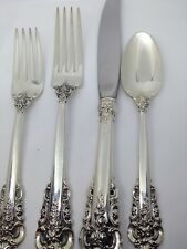 Wallace Grande Baroque Sterling Silver Flatware 4Pc Place Setting - Sizes Listed