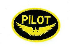 Patch patches embroidered iron on pilot gold wings aircraft avion plane aviation