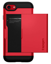 Etui iPhone 8, Coque 7/8, Slim Armor CS Slim Fit Protection Double Couche Rouge