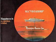 1972 VISTAFJORD Deluxe Pre-Maiden Voyage Interior Brochure-SSHSA sHiPs WORLDWIDE