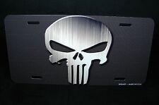PUNISHER SKULL LICENSE PLATE TAG FOR CARS  SUV ALUMINUM METAL  THE PUNISHER