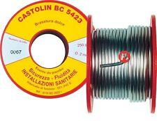 CASTOLIN BC 5423 LEGA IN BOBINE 250 g. BRASATURA DOLCE STAGNO RAME DISOSSIDANTE