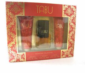 Tabu for Women by Dana Eau de Cologne Spray 1.2 oz + Lotion + Gel - Gift Set
