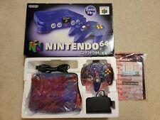 Clear Grape Funtastic Purple Nintendo 64 N64 Console Set REGION FREE US Seller
