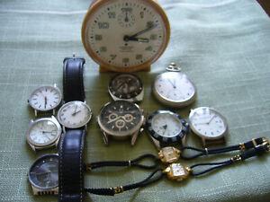 11 alte Uhren für Bastler und Sammler, mechanisch und digital