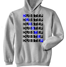DUBSTEP WRITING 2 - NEW COTTON GREY HOODIE