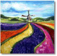 Moderne Kunst Handgemaltes Wandbild Blumen Tulpen  Art.Nr. 884
