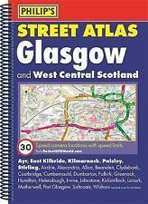 Philip's Street Atlas Glasgow and West Central Scotland: Spiral Edition - New Bo