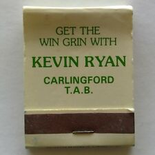 Kevin Ryan Carlingford Court TAB Get The Win Grin Matchbook (MK16)