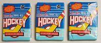1991-92 OPC O-Pee-Chee Hockey Lot of 3 (Three) Sealed Unopened Packs Gretzky