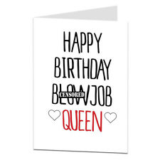 Very Rude Happy Birthday Card Girlfriend Wife Her Female Funny Joke Naughty