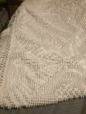 New listing Vtg. Bates George Washington Hobnail Chenille Bedspread White 94 X 90 Approx