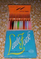 Service 12 minifourchette à cocktail apperitif Vintage little fork