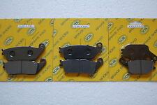 FRONT REAR BRAKE PADS fits HONDA CBR 600, 95-98 CBR600 CBR600F CBR600F3