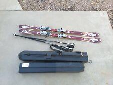 New listing K2 Omni 4.5 167cm Downhill Skis with ski poles & hard travel case / storage