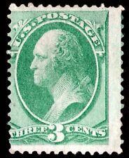 "US Sc# 136 *UNUSED H* { 3c WASHINGTON } NICE ""GRILLED"" 1870-71 NATIONAL BANKNOTE"