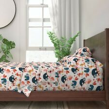 Sloths Tropical Animal Forest Nursery 100% Cotton Sateen Sheet Set by Roostery