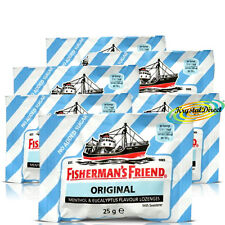 6x Fisherman's Friend Sugar Free Original Mentol Y Eucalipto Pastillas