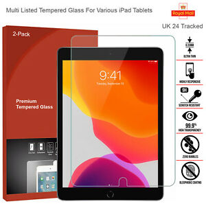 2 Pack Protector Screen Tempered Clear Glass For iPad 10.2 Air 3 2019 & iPhone